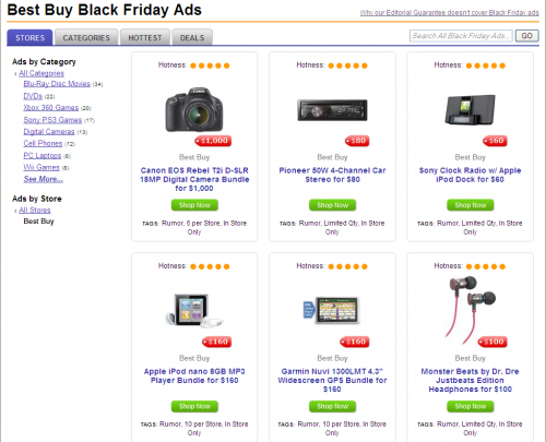 An example of the Best Buy ads at Dealnews.