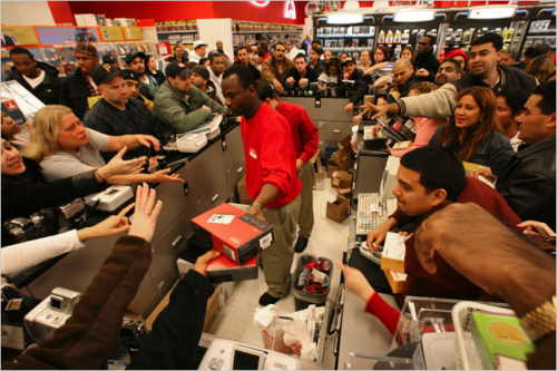 People go crazy for Black Friday deals.