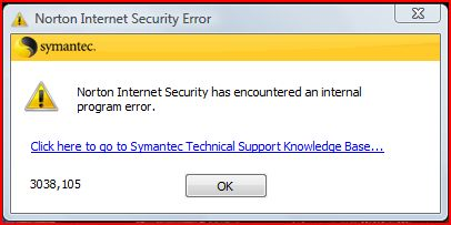 Error messages are all too common for Norton.