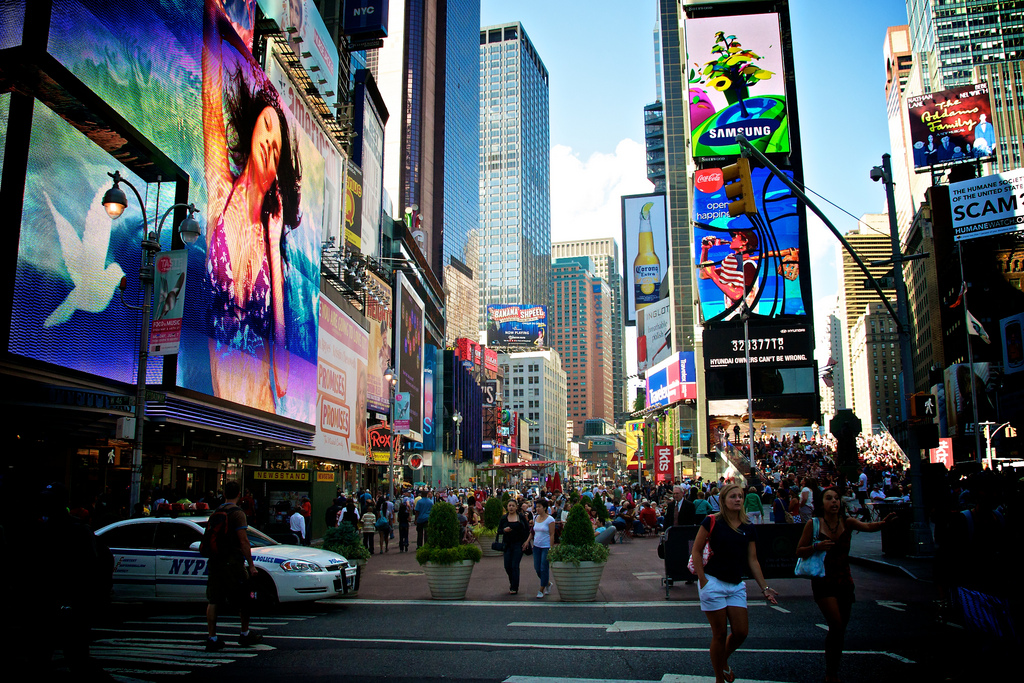 Image of the New York City billboards